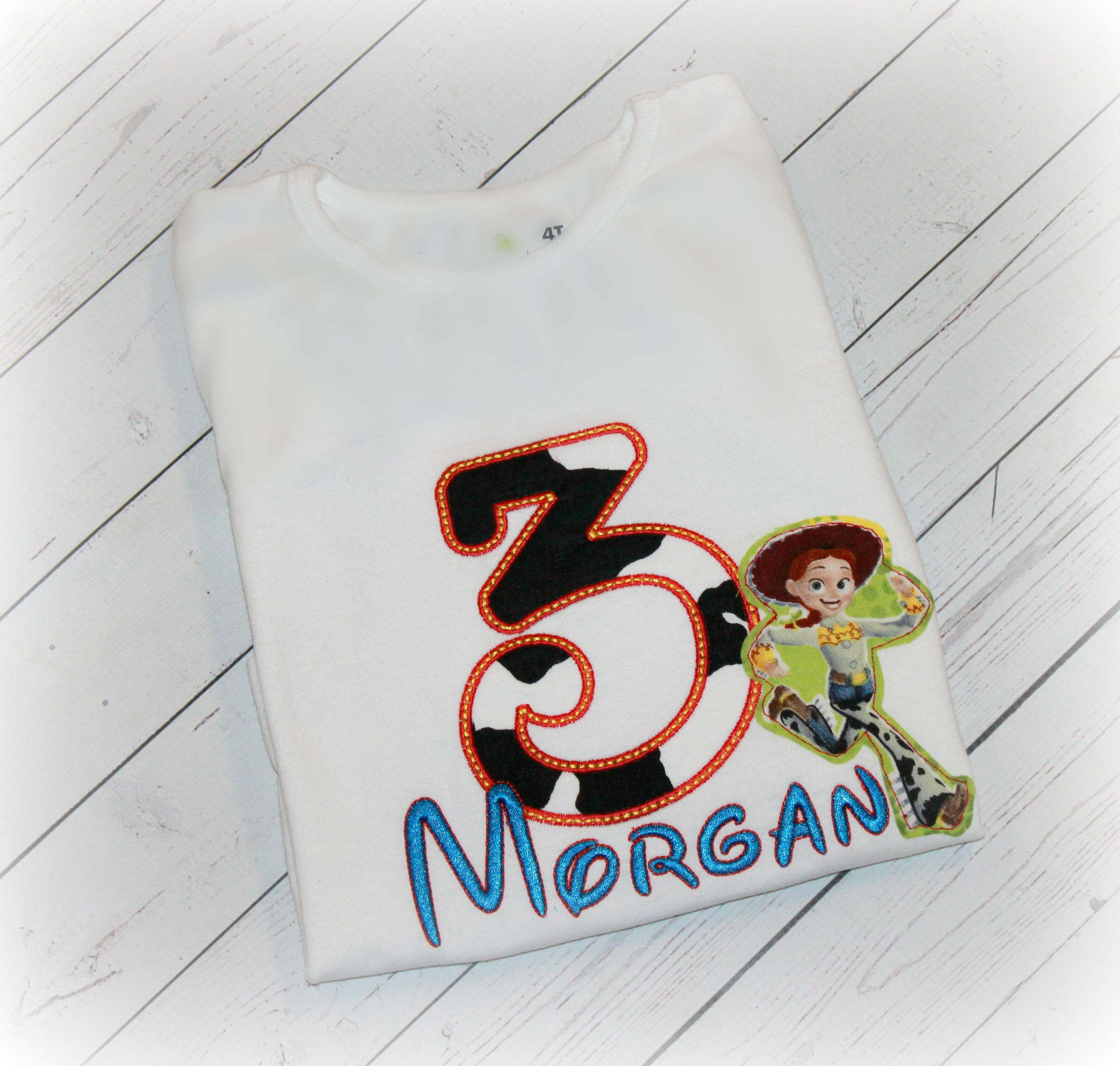 Jessie from Toy Story Inspired Birthday Cow Print Top