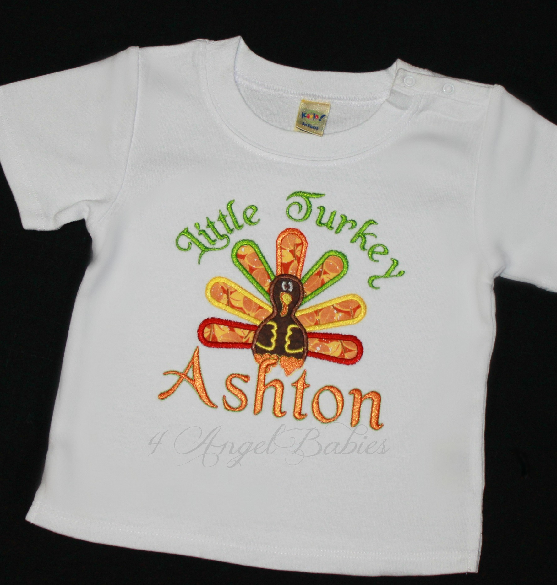 Little Turkey Thanksgiving or Fall Birthday Shirt or Top